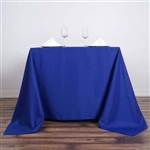 "90"" Royal Blue Wholesale Polyester Square Tablecloth For Banquet Party Restaurant"