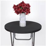 Spandex Cocktail Table Top Cover - Black