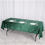 "60"" x 102"" Econoline Velvet Rectangle Tablecloth - Hunter Green"