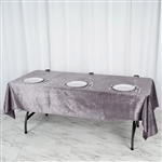 "60"" x 102"" Econoline Velvet Rectangle Tablecloth - Charcoal Grey"