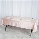 "60"" x 102"" Econoline Velvet Rectangle Tablecloth - Blush/Rose Gold"
