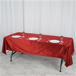 "60"" x 102"" Econoline Velvet Rectangle Tablecloth - Wine"