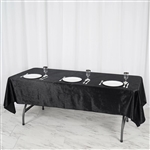 "60"" x 102"" Econoline Velvet Rectangle Tablecloth - Black"
