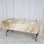 "60"" x 102"" Econoline Velvet Rectangle Tablecloth - Champagne"