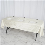"60"" x 102"" Econoline Velvet Rectangle Tablecloth - Ivory"