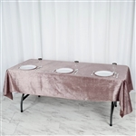 "60"" x 102"" Econoline Velvet Rectangle Tablecloth - Rose Quartz"