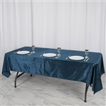 "60"" x 102"" Econoline Velvet Rectangle Tablecloth - Navy Blue"