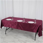 "60"" x 102"" Econoline Velvet Rectangle Tablecloth - Purple"