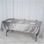 "60"" x 102"" Econoline Velvet Rectangle Tablecloth - Silver"