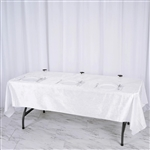 "60"" x 102"" Econoline Velvet Rectangle Tablecloth - White"