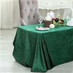 "90"" x 132"" Econoline Velvet Rectangle Tablecloth - Hunter Green"