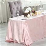 "90"" x 132"" Econoline Velvet Rectangle Tablecloth - Blush/Rose Gold"