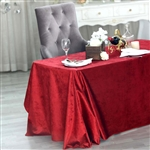 "90"" x 132"" Econoline Velvet Rectangle Tablecloth - Wine"