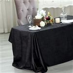 "90"" x 132"" Econoline Velvet Rectangle Tablecloth - Black"