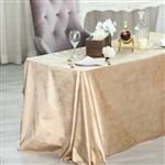 "90"" x 132"" Econoline Velvet Rectangle Tablecloth - Champagne"