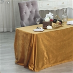 "90"" x 132"" Econoline Velvet Rectangle Tablecloth - Gold"