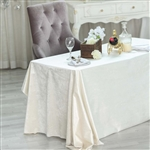 "90"" x 132"" Econoline Velvet Rectangle Tablecloth - Ivory"