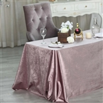"90"" x 132"" Econoline Velvet Rectangle Tablecloth - Dusty Rose"