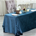 "90"" x 132"" Econoline Velvet Rectangle Tablecloth - Navy Blue"