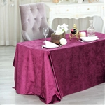 "90"" x 132"" Econoline Velvet Rectangle Tablecloth - Purple"