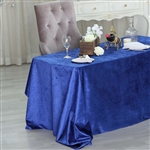 "90"" x 132"" Econoline Velvet Rectangle Tablecloth - Royal Blue"