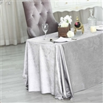 "90"" x 132"" Econoline Velvet Rectangle Tablecloth - Silver"