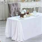 "90"" x 132"" Econoline Velvet Rectangle Tablecloth - White"
