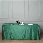"90"" x 156"" Econoline Velvet Rectangle Tablecloth - Hunter Green"