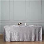 "90"" x 156"" Econoline Velvet Rectangle Tablecloth - Charcoal Gray"
