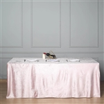 "90"" x 156"" Econoline Velvet Rectangle Tablecloth - Blush/Rose Gold"