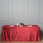"90"" x 156"" Econoline Velvet Rectangle Tablecloth - Wine"