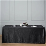 "90"" x 156"" Econoline Velvet Rectangle Tablecloth - Black"