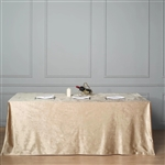 "90"" x 156"" Econoline Velvet Rectangle Tablecloth - Champagne"