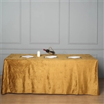 "90"" x 156"" Econoline Velvet Rectangle Tablecloth - Gold"
