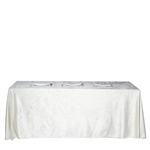"90"" x 156"" Econoline Velvet Rectangle Tablecloth - Ivory"