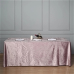 "90"" x 156"" Econoline Velvet Rectangle Tablecloth - Dusty Rose"