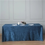 "90"" x 156"" Econoline Velvet Rectangle Tablecloth - Navy Blue"
