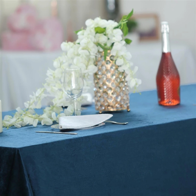 navy blue wedding reception decorations.htm econoline velvet rectangle tablecloth in navy blue for special  rectangle tablecloth in navy blue