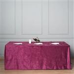 "90"" x 156"" Econoline Velvet Rectangle Tablecloth - Purple"