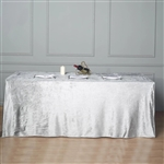 "90"" x 156"" Econoline Velvet Rectangle Tablecloth - Silver"