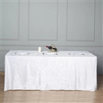 "90"" x 156"" Econoline Velvet Rectangle Tablecloth - White"
