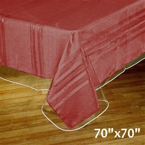 "70""x70"" Clear Vinyl Tablecloth Protector"