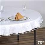 "70"" Round Clear Vinyl Tablecloth Protector"