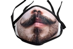 The Mustache Print Poly/Cotton Masks - 25-Pack