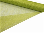 "Glittered Scrunch Roll Mesh - Apple Green 19"" x 5 yards"