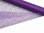 "Glittered Scrunch Roll Mesh - Purple 19"" x 5 yards"