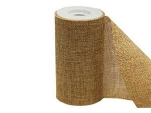 "Polyester Burlap Roll - Natural 6""x10 Yards"