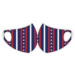 Face Fashions Spandex Protective Masks - Pack of 10 - Stars Stripe