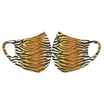 Face Fashions Spandex Protective Masks - Pack of 10 - Tiger Ombre