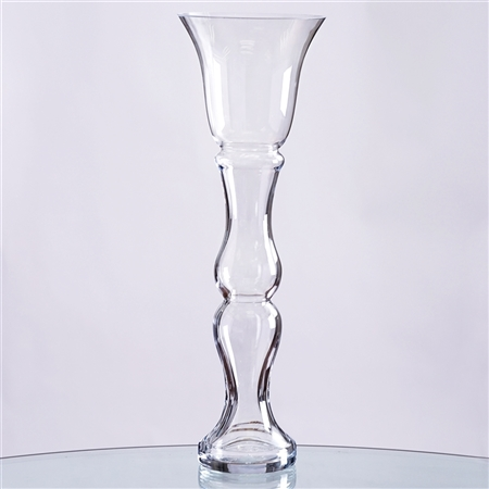 "20"" Tall Trumpet Pilsner Glass Floral Vase Centerpiece for Wedding Event Table Décor - Pack of 4"